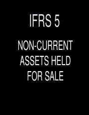 IFRS 5 Non-current assets held for sale Students