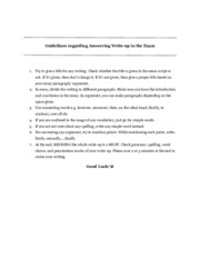 Guidelines on Write-Up