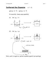 Isothermal Gas Expansion notes
