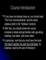 Course Introduction Lecture(1)