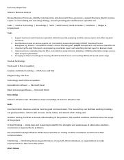 Job Summary Report Business Analyst- OBHRM Assignment 2.docx