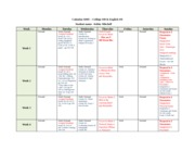 Week 2 Assignment - Managing Time - Personal Calendar