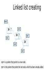 creating a linked list