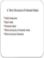 MFIN5400_s05 - term structure of interest rates