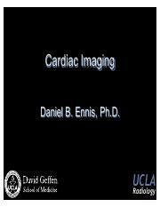 Lecture 07 Cardiac Imaging - UCLA Radiology Cardiac Imaging