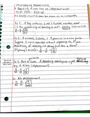 Notes On Multiplying Probabilities