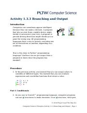 Python Branching and Output.docx