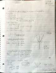 AP Calculus Types of functions notes