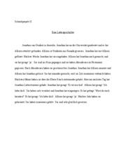 German writing project