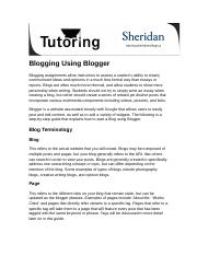 Guide to Blogging using Blogger.docx