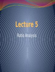 Lecture 5 - Ratio Analysis(5) (1).pptx