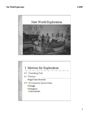New World Exploration slides
