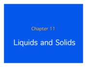 Chapter 11.  Liquids and Solids