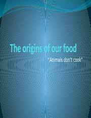 Ch 1 The Origins of our Food