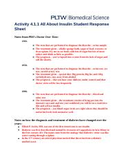 insulin and student response sheet Insulin management of type 2 diabetes mellitus  in response to oral carbohydrate loads,  insulin is secreted by the pancreas in a glucose-dependent.