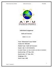 Audit and Assurance (1)
