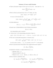 Amath 352 useful formulas