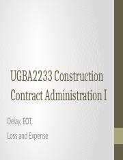 UGBA2233_CCAI_7_-_Delay_EOT_Loss_and_Expense