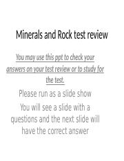 rocks and minerals test review 2015-16.ppt