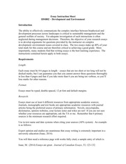 Essay assignement instructions