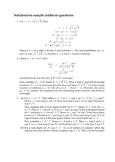 Math 104 Spring 2013 Sample Midterm 1 Solutions