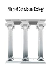 Lecture 2- (Pillars of Behavioural Ecology)