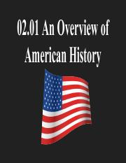 02.01 An Overview of American History