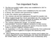 Ten Important Facts