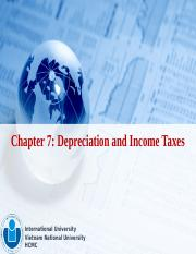 Chapter 7 - Depreciation and Income Taxes.pptx