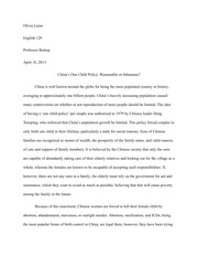 research paper one child policy the one child policy  8 pages essay on s one child policy