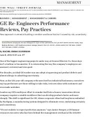 GE Re-Engineers Performance Reviews, Pay Practices - WSJ.pdf