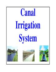 Lecture Series 15_Canal Irrigation System-2014-15