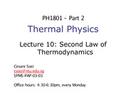 Lecture 10 - Second Law of Thermodynamics_updated(1)