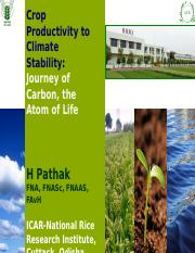 Carbon, Climate and Crop H Pathak.pptx