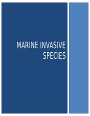 19 Marine Invasive Species