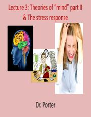 Lecture 3 The stress response TO POST