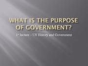 The Three Purposes of Government(C)