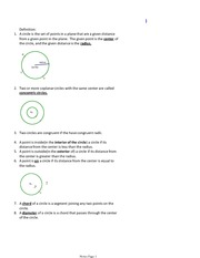 Concentric Circles Notes