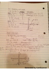 class notes Graphing and Slope