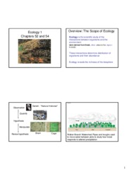 Lecture 26 Ecology 1