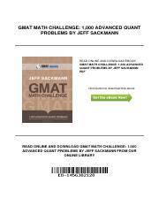Advanced Gmat Quant Pdf