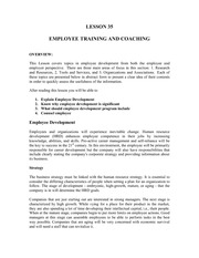 Lesson35EmployeeTrainingAndCoaching
