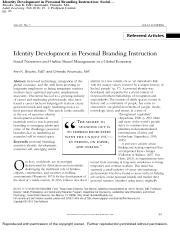 Identity Development in Personal Branding Instruction  Social Narratives and Online Brand Management