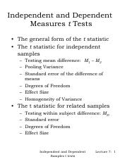Independent and Dependent Sample T Test Notes .pdf