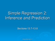 Simple Regression 2- Inference and Prediction