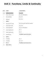 Unit 2 Functions and Limits Updated 2011 pdf LOCK