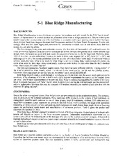 Case 5-1 Blue Ridge Manufacturing