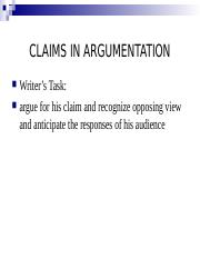 Claims and Appeals in Arguments.ppt