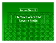Ch 18 Electric Forces and Electric Fields