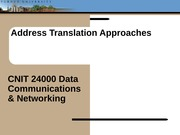 Lecture13 - Address Translation Approaches
